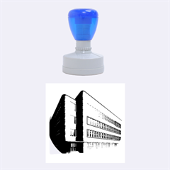 Office Building Villa Rendering Rubber Round Stamps (Medium)