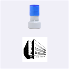 Office Building Villa Rendering Rubber Round Stamps (Small)