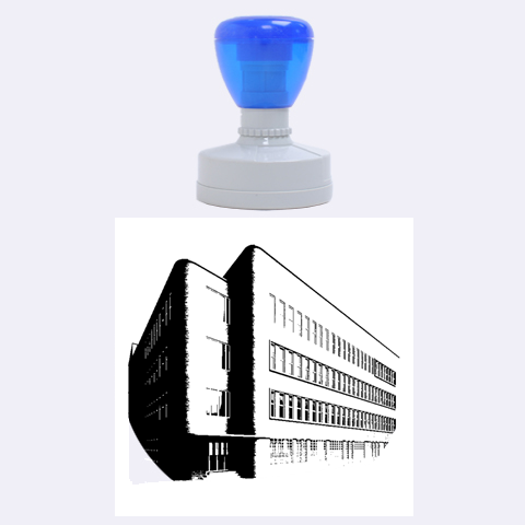 Office Building Villa Rendering Rubber Round Stamps (Large)