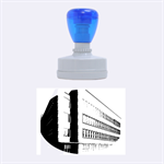 Office Building Villa Rendering Rubber Oval Stamps 1.88 x1.37  Stamp