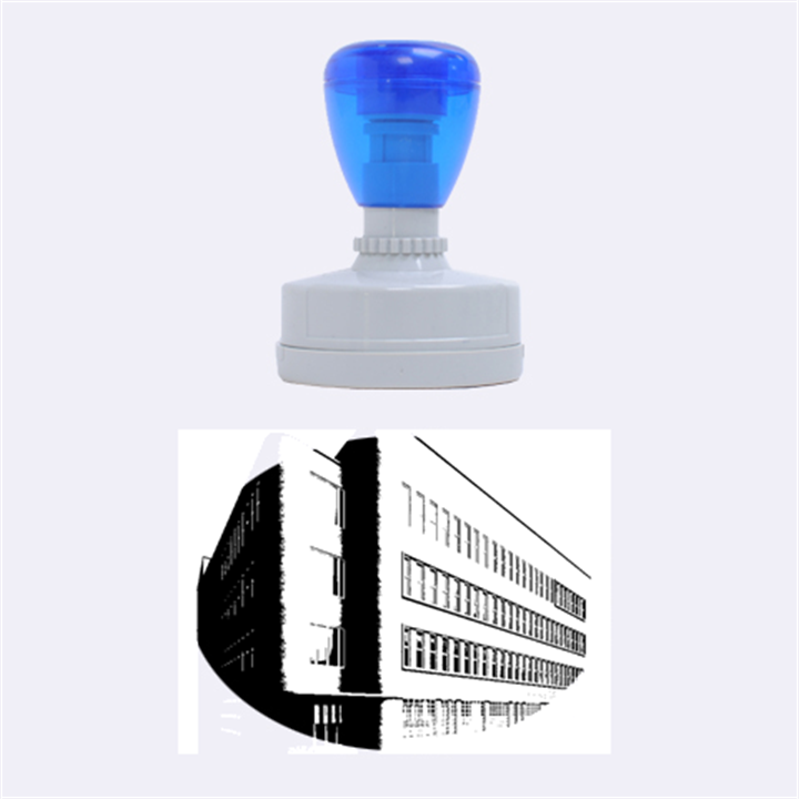 Office Building Villa Rendering Rubber Oval Stamps