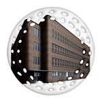 Office Building Villa Rendering Round Filigree Ornament (2Side) Front