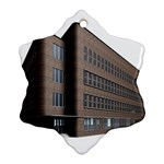Office Building Villa Rendering Snowflake Ornament (2-Side) Front