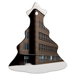 Office Building Villa Rendering Christmas Tree Ornament (2 Sides) Front