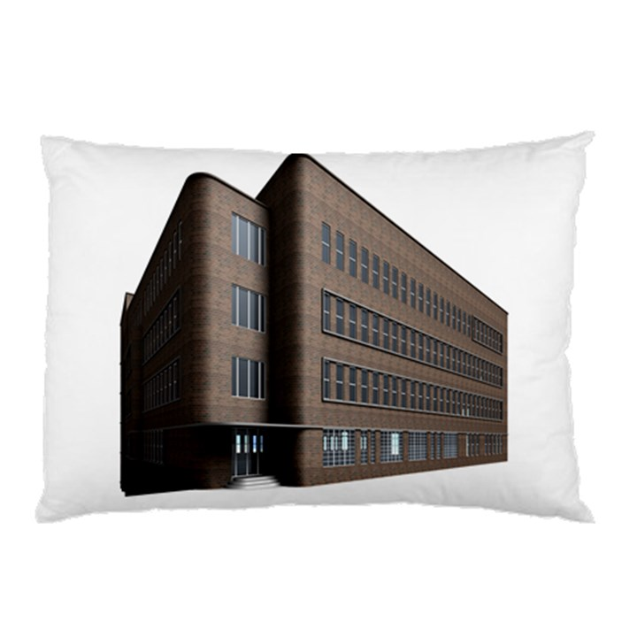 Office Building Villa Rendering Pillow Case (Two Sides)