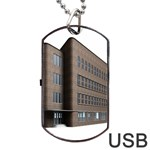 Office Building Villa Rendering Dog Tag USB Flash (Two Sides)  Back