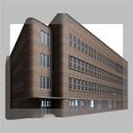 Office Building Villa Rendering Deluxe Canvas 16  x 12   16  x 12  x 1.5  Stretched Canvas