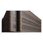 Office Building Villa Rendering Happy Birthday 3D Greeting Card (8x4) Front