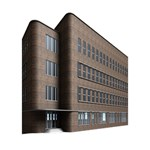 Office Building Villa Rendering GIRL 3D Greeting Card (7x5) Inside