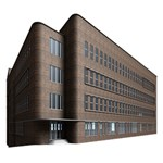 Office Building Villa Rendering Happy New Year 3D Greeting Card (8x4) Inside