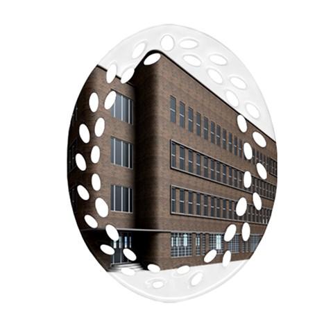 Office Building Villa Rendering Ornament (Oval Filigree)