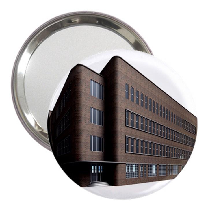 Office Building Villa Rendering 3  Handbag Mirrors