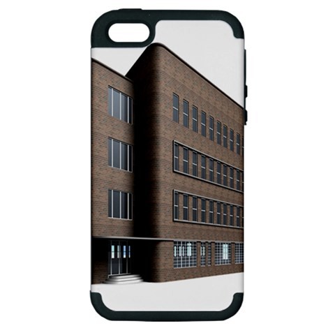 Office Building Villa Rendering Apple iPhone 5 Hardshell Case (PC+Silicone)