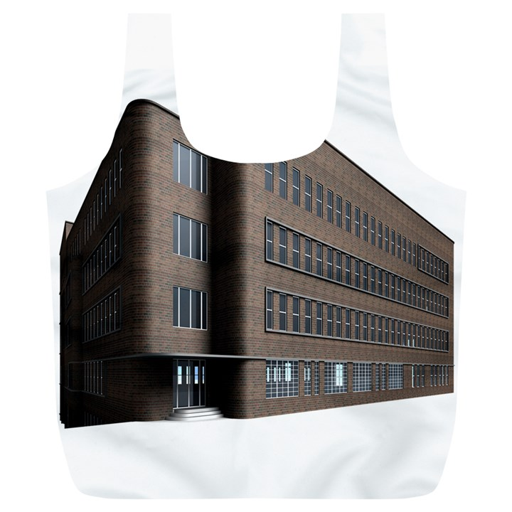Office Building Villa Rendering Full Print Recycle Bags (L)