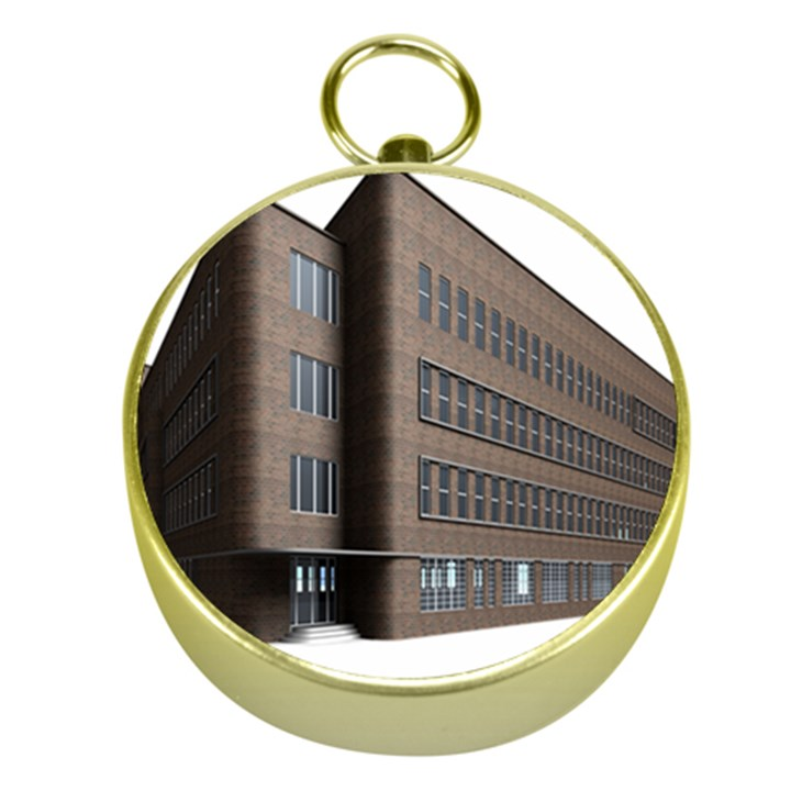 Office Building Villa Rendering Gold Compasses