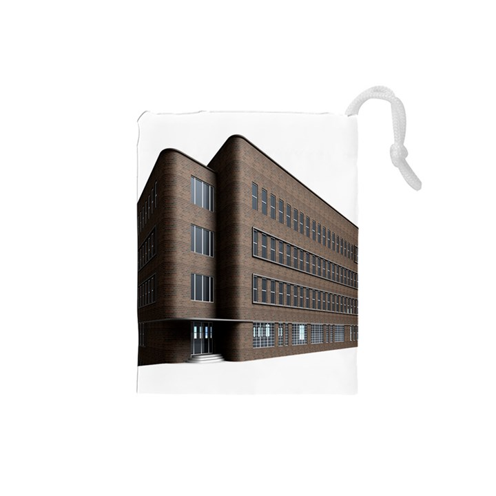 Office Building Villa Rendering Drawstring Pouches (Small)