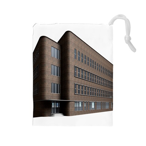 Office Building Villa Rendering Drawstring Pouches (Large)