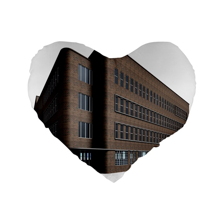 Office Building Villa Rendering Standard 16  Premium Flano Heart Shape Cushions