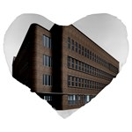 Office Building Villa Rendering Large 19  Premium Flano Heart Shape Cushions Back