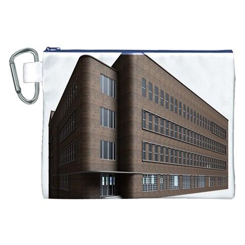 Office Building Villa Rendering Canvas Cosmetic Bag (XXL)