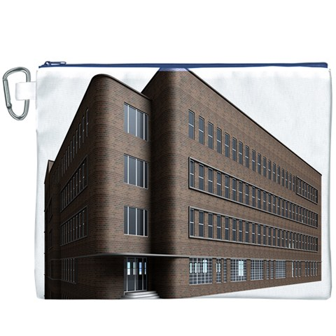 Office Building Villa Rendering Canvas Cosmetic Bag (XXXL)