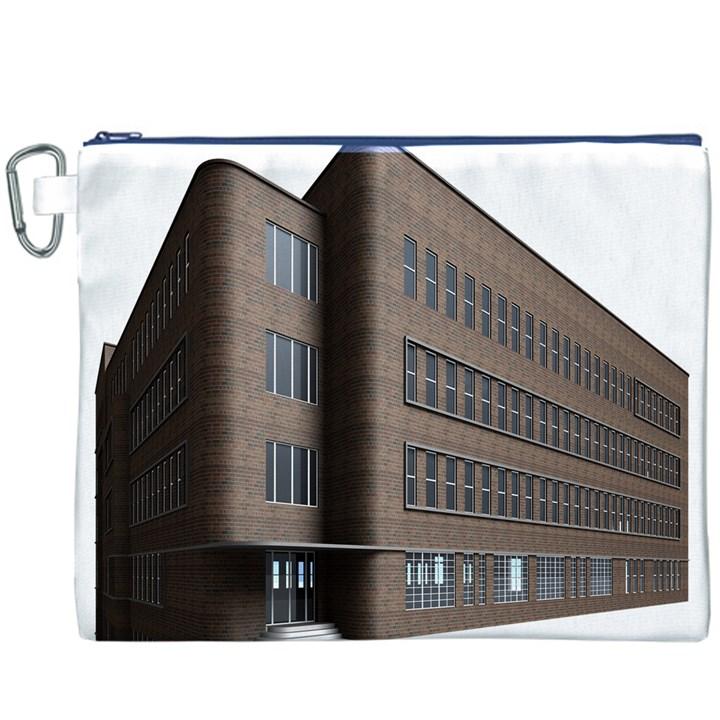 Office Building Villa Rendering Canvas Cosmetic Bag (XXXL)