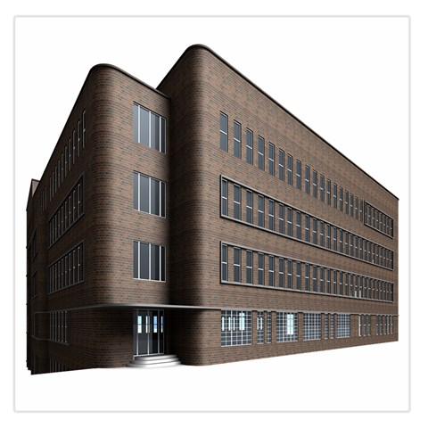 Office Building Villa Rendering Large Satin Scarf (Square)