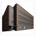 Office Building Villa Rendering Large Satin Scarf (Square) Front