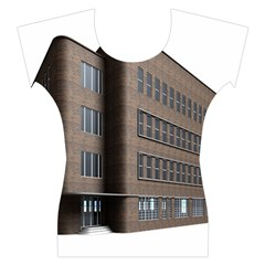 Office Building Villa Rendering Women s Cap Sleeve Top