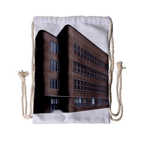 Office Building Villa Rendering Drawstring Bag (Small)