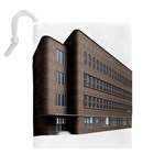 Office Building Villa Rendering Drawstring Pouches (Extra Large) Back