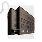 Office Building Villa Rendering Drawstring Pouches (XXL) Back