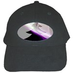 Purple Christmas Tree Black Cap Front
