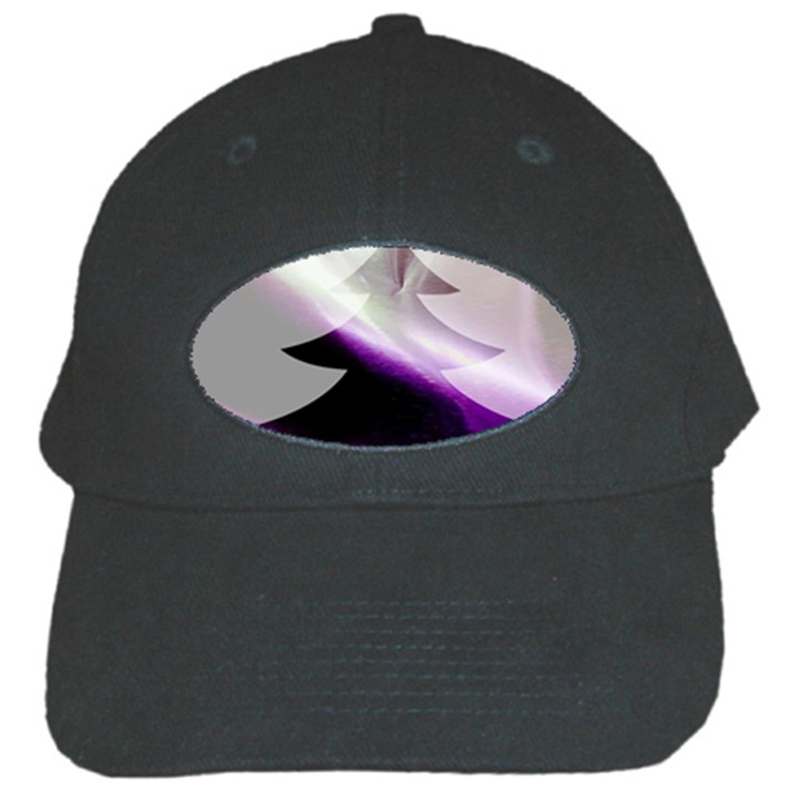 Purple Christmas Tree Black Cap