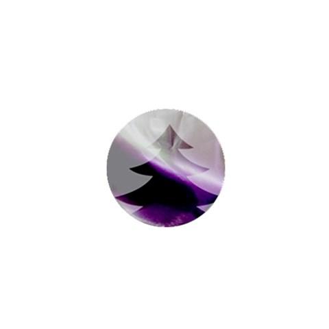 Purple Christmas Tree 1  Mini Magnets