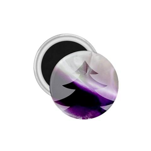 Purple Christmas Tree 1.75  Magnets