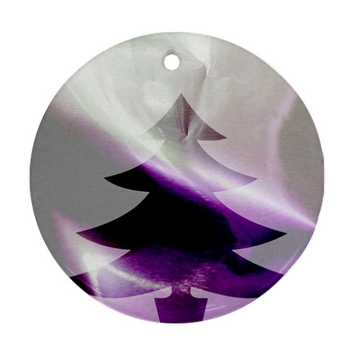 Purple Christmas Tree Ornament (Round)