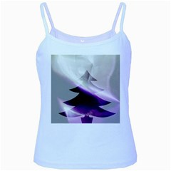 Purple Christmas Tree Baby Blue Spaghetti Tank