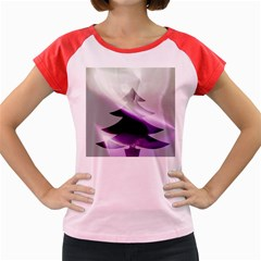 Purple Christmas Tree Women s Cap Sleeve T-Shirt