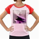 Purple Christmas Tree Women s Cap Sleeve T-Shirt Front