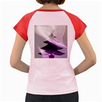 Purple Christmas Tree Women s Cap Sleeve T-Shirt Back
