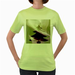 Purple Christmas Tree Women s Green T Shirt