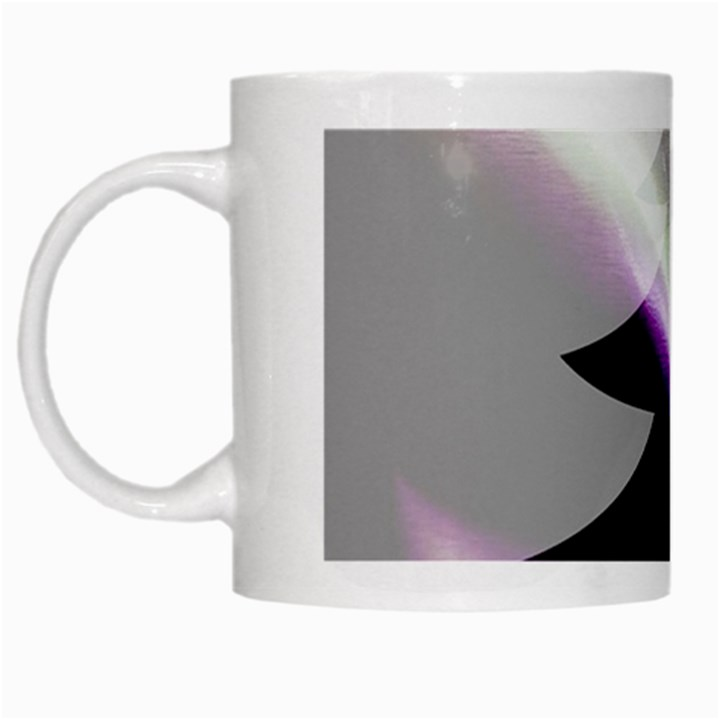 Purple Christmas Tree White Mugs