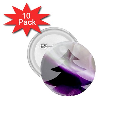 Purple Christmas Tree 1.75  Buttons (10 pack)