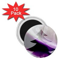 Purple Christmas Tree 1.75  Magnets (10 pack)