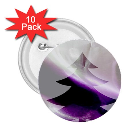 Purple Christmas Tree 2.25  Buttons (10 pack)