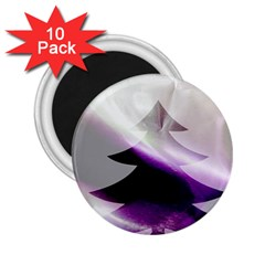 Purple Christmas Tree 2.25  Magnets (10 pack)