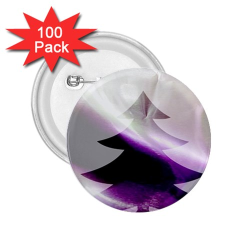 Purple Christmas Tree 2.25  Buttons (100 pack)