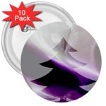 Purple Christmas Tree 3  Buttons (10 pack)  Front