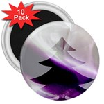 Purple Christmas Tree 3  Magnets (10 pack)  Front